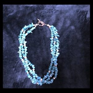 Jewelry - Turquoise and freshwater peril necklace